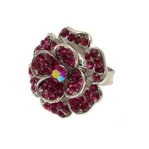 Acosta Jewellery   Fuchsia Pink Crystal   Adjustable Fashion Flower