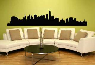 New York City NYC Skyline Mural Wall Vinyl Decal 8.5ft