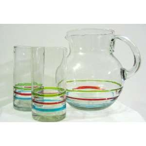 Band Bola Pitcher and Water Glass Set  Kitchen & Dining