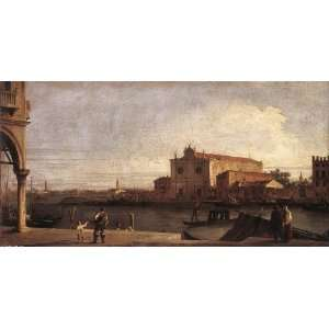 Hand Made Oil Reproduction   Canaletto   24 x 12 inches