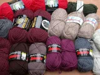 Yarn Lot Wools Red Heart Wool Ease Schaffhauser Salvatore Reynolds