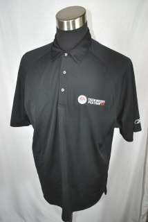 REEBOK TIGER WOODS PGA TOUR 09 black golf sports athletic mens polo