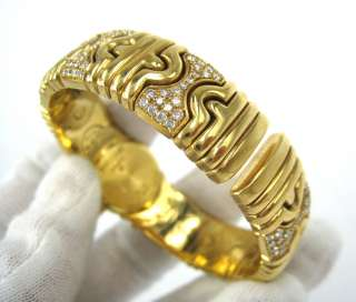 Bvlgari Parentesi BJ 01 Diamond 18K Yellow Gold Ladys Bangle Watch