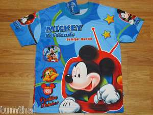 Mickey Mouse & Friends Boy T shirt S M L XL age 3 10