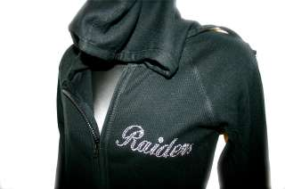 LA Oakland Raiders Bling Womens Thermal Hoodie SM 3X