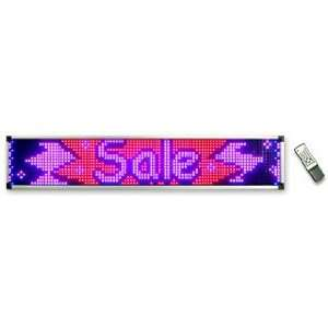 Ad Lite Programmable 4 Color LED Window Sign Display (RBPP