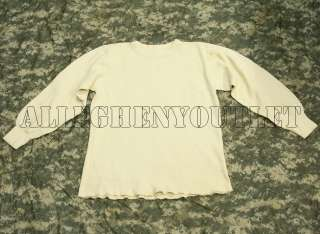 Military Army ECW Cotton Waffle THERMAL UNDERWEAR SHIRT TOP Large NEW