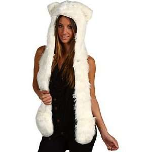 White Wolf Full Animal Hood 3 in 1 function Everything