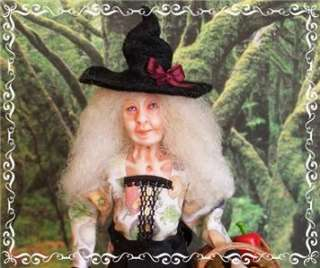 AUNTIE JEANETTA ooak 112 WITCH doll by Soraya Merino