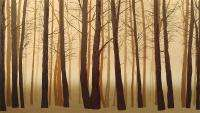 Omurcada Winter Woods II Signed Numbered Serigraph Art trees forest