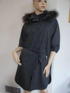 Cucinelli Dark Grey Wool/Fur/Cashmere Coat/Jacket Sz 42 MSRP$4840