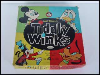 Vintage 1963 Walt Disney Tiddly Winks Game Mickey Mouse Donald duck
