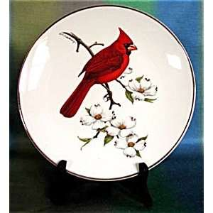 Cardinal North American Songbird Plate Home & Kitchen
