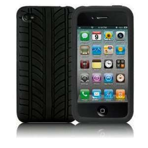 Tire tread Soft Rubber Skin Case Cover Apple iPhone 4S 4G 4 4th Gen