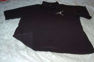 JORDAN BIG JUMPMAN POLO SHIRT black men 2XL air force dunks