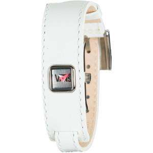 VANS Skate Wilshire White Patent Leather Bracelet Watch Womens $55