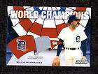 2001 topps 1984 world champions willie hernandez game used jersey