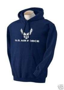 AIR FORCE MENS NAVY BLUE HOODIE NEW HOODED SWEATSHIRT