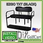 TXT Golf Cart Rear Stationary Seat Kit   4 Passenger Back Seat (BLACK