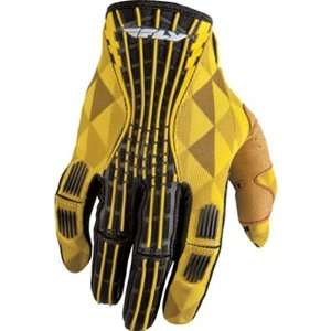 Fly Racing Kinetic Mens Dirt Bike Motorcycle Gloves   Yellow / Size