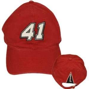 REED SORENSON 41 RED PIT CAP HAT CHASE NEW NASCAR ADJ