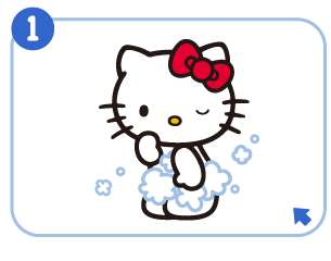 Rosette x Hello Kitty Apple Body Wash Shower Gel 400ml
