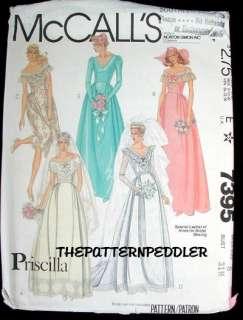 VINTAGE Bridal Wedding Dress Gown Fabric Pattern bs31.5