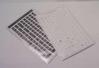 English US only Keyboard Sticker   Black / White 108 keys high quality