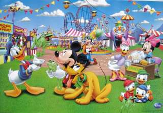 DISNEY COUNTY FAIR POSTER WITH MICKEY MOUSE, MINNIE, DONALD, DAISY