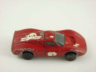 1969 Hot Wheels   FORD MK IV Redline   USA   Red Enamel   #6257