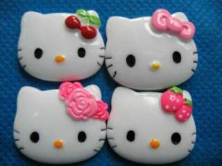 20 Resin Hello Kitty Buttons 4 Design K046