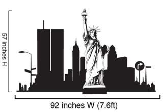Vinyl Wall Decal Sticker Twin Towers 911 Statue Liberty