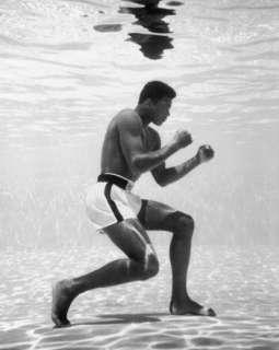 Muhammad Ali Cassius Clay Swimming Pool Boxing Poster Print Rare