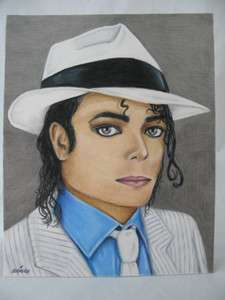 One Of A Kind) Michael Jackson Smooth Criminal Portrait Pencil Drawing