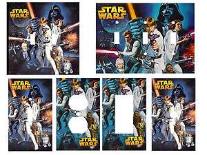 Star Wars Classic Light Switch Cover, Outlets, Rocker, Double You