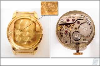 v4683   18K SOLID GOLD OMEGA LADIES WRISTWATCH