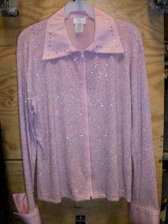 Debbie Kay Ladies Sparkling Pink Western Show Shirt, NWT
