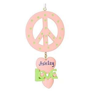 Personalized Peace Sign Ornament