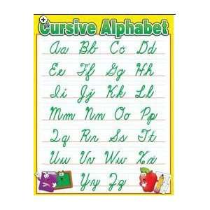 Teachers Friend 978 0 439 50585 7 Cursive Alphabet Chart Toys & Games