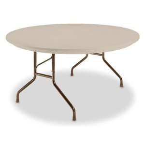 60 Tan Round Deluxe Folding Table