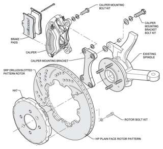 WILWOOD DISC BRAKE KIT,FRONT,HONDA DEL SOL  ABS,11,BL,D