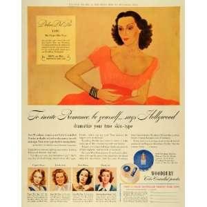 1941 Ad Woodbury Cosmetics Makeup Dolores Del Rio Mexican
