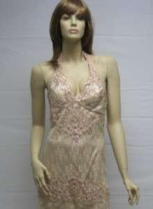 Sue Wong Gold Peach Evening Dress Gown Wedding 4 NEW Desinger Cocktail