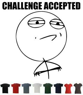 Challenge Accepted T shirt meme Tee Megusta Trollface Emoticon Tee