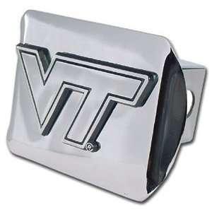 Virginia Tech Hokies Bright Polished Chrome with Chrome VT Emblem