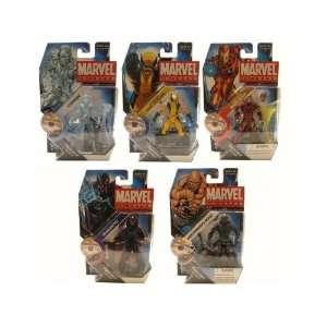 Wave 16 Set of 5 Magneto Ice Man Absorbing Man Wolverine Tony Stark