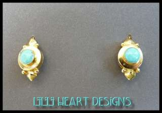 ADRIATIC TURQUOISE EARRINGS 24K GOLD OVER SILVER