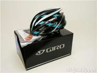 2012 Giro Aeon Black and Turquoise Bicycle Helmet   MEDIUM   NEW