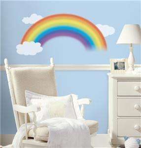 New RAINBOW GIANT WALL DECALS Clouds Bedroom Stickers 034878032122