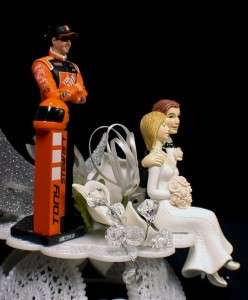 Nascar Racing Wedding Cake Topper Tony Steward number #20 race car